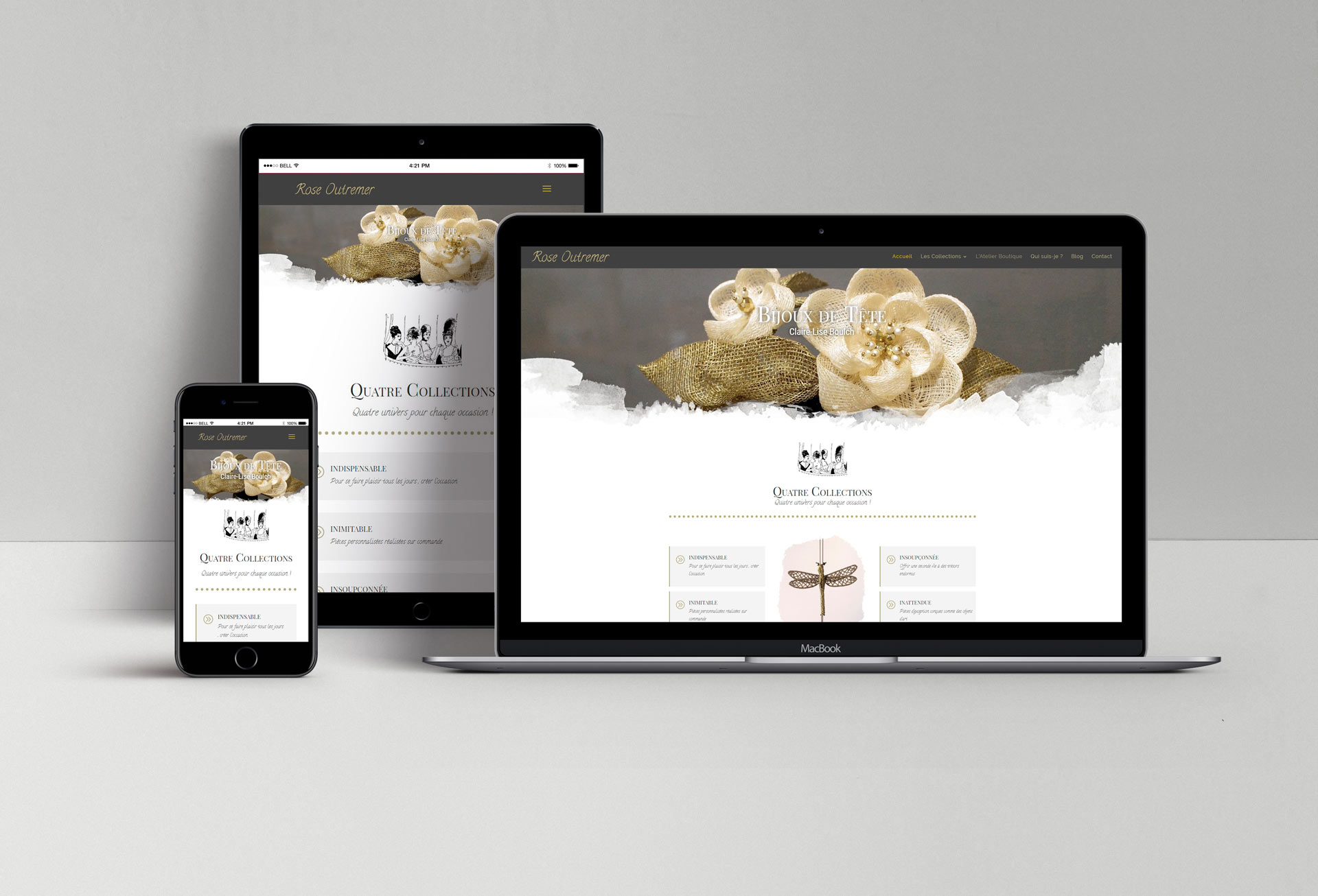 Site web Rose Outremer