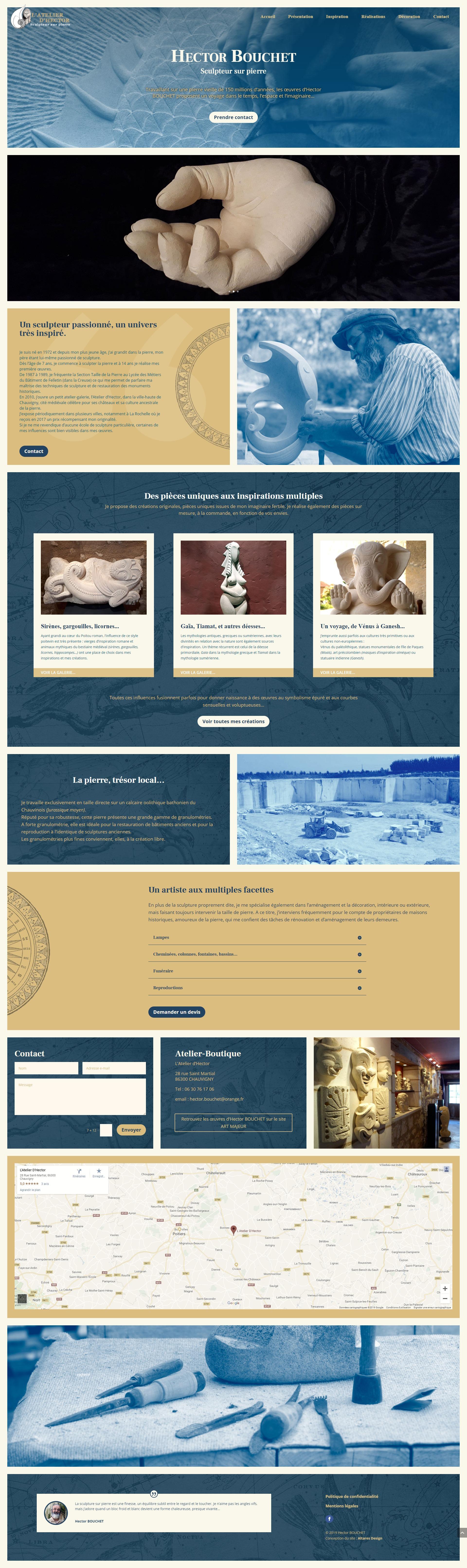 Site web Hector Bouchet