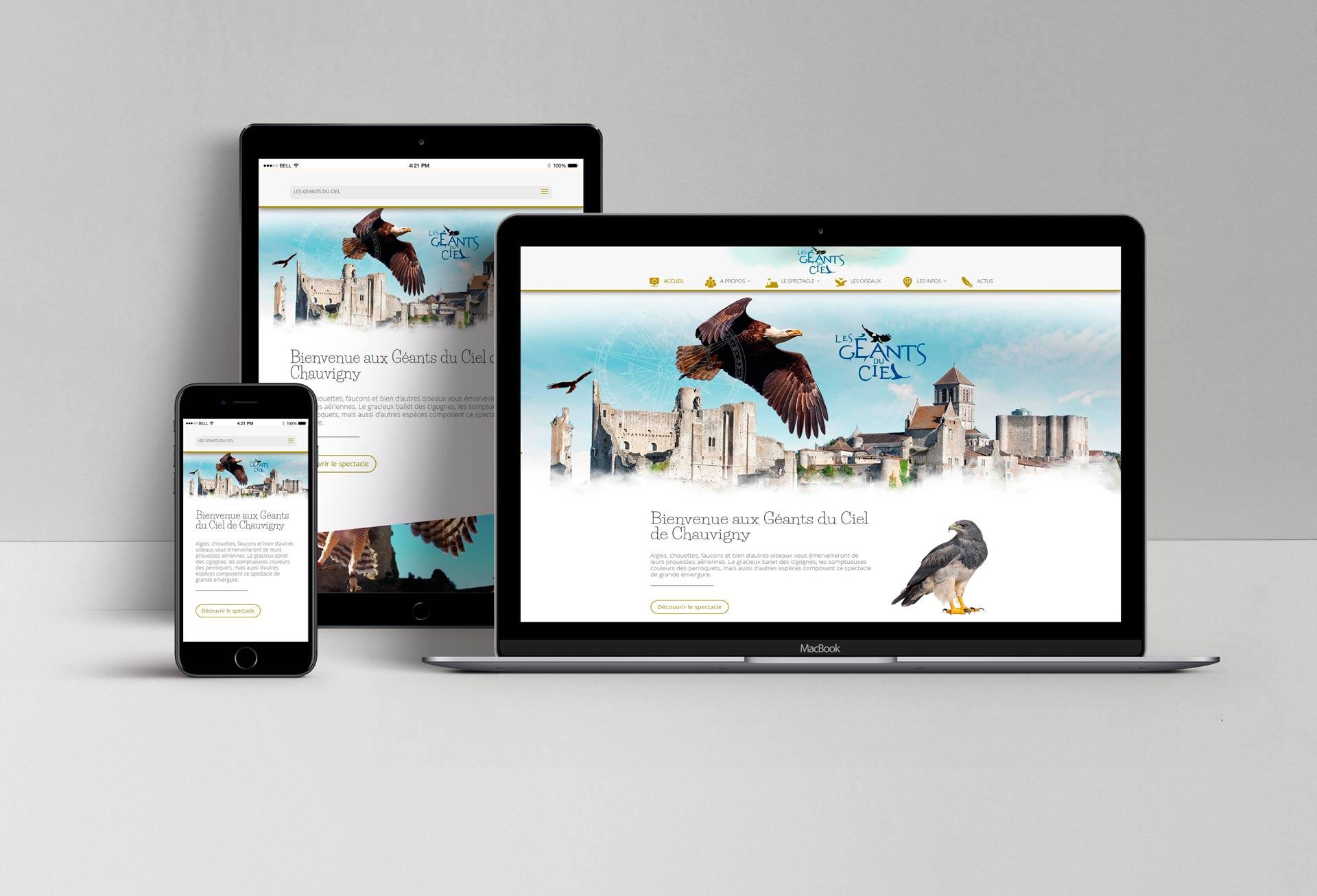 Site web les Géants du Ciel